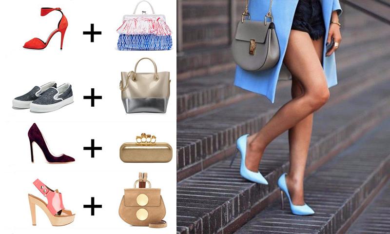 сочетание сумки и обуви 2017