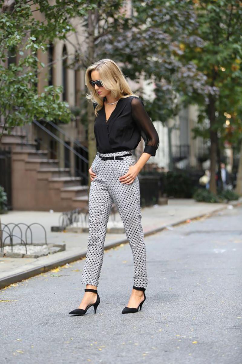 брюки с принтом
