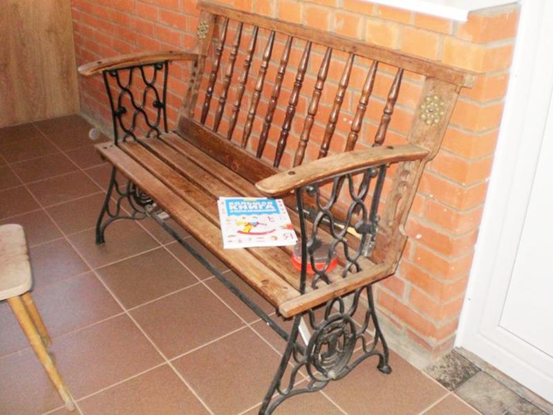 дачная скамейка переделка