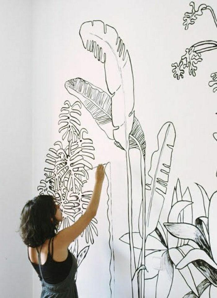 украшение помещения росписью стен