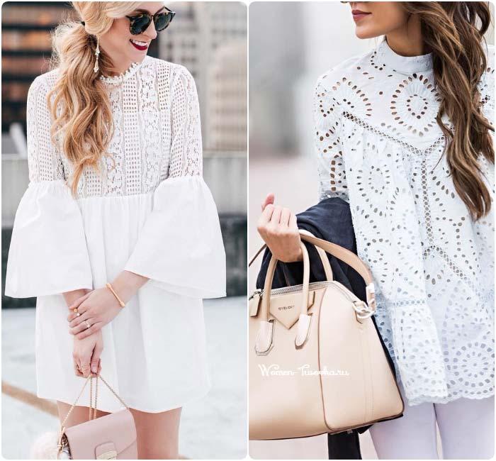 Модное кружево 2017 блузы