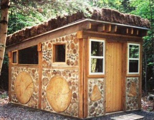 Эко-строительство. Тёплый дом из обычных дров!