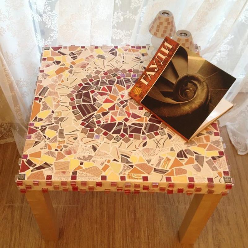мозаика из битой плитки на пол