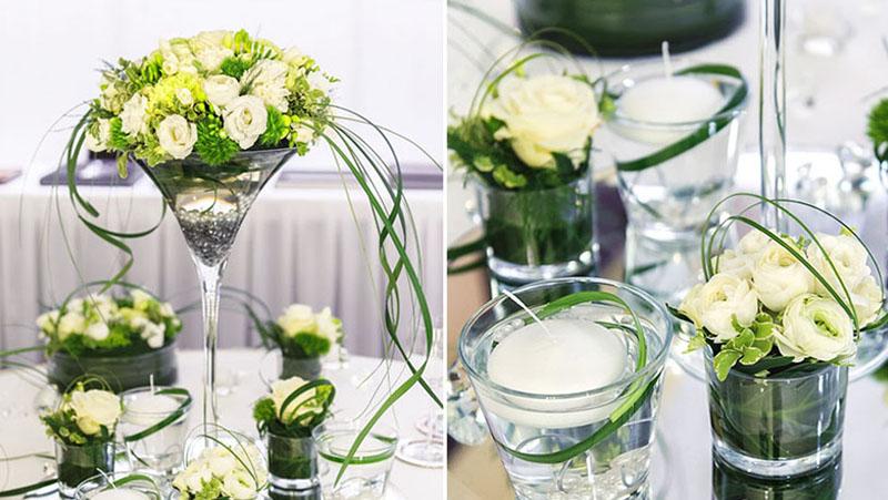 цветок в бокале свеча