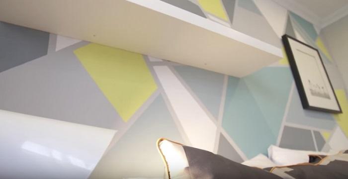 как покрасить стену фото