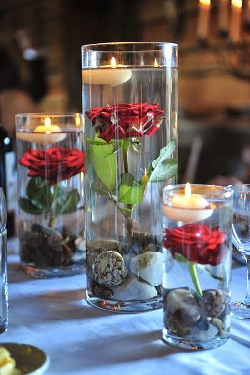 комнатные цветы в бокале