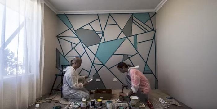 как красиво покрасить стены