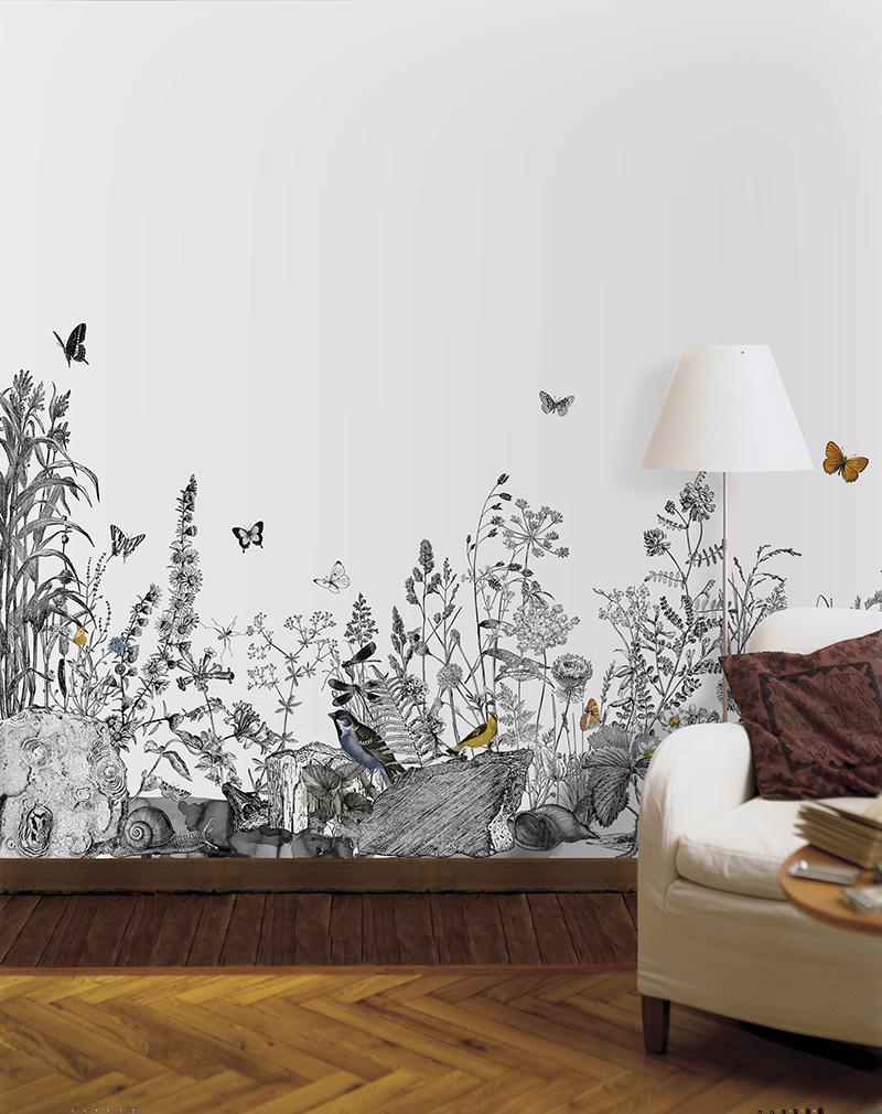 роспись стен в интерьере технология