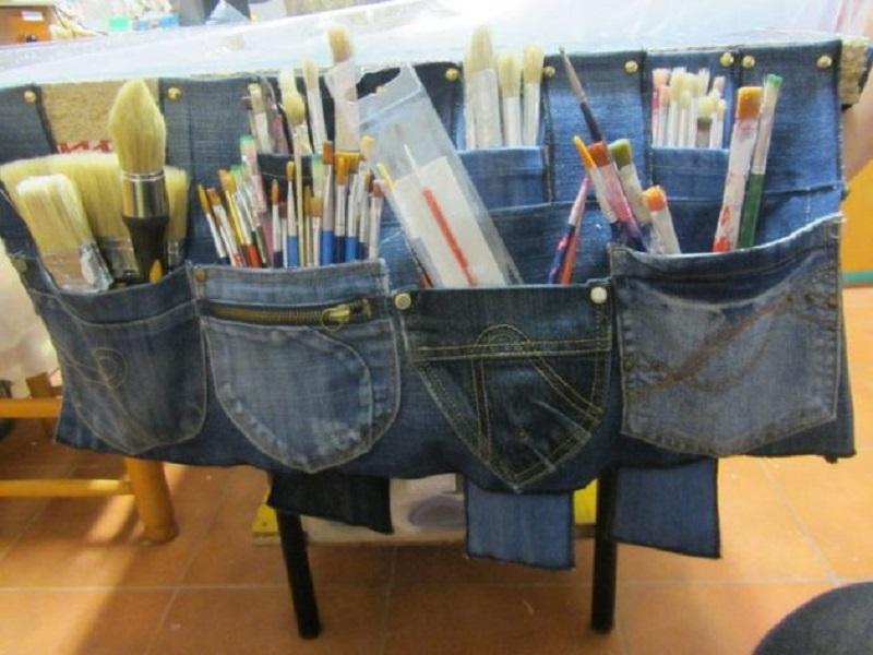 сшить из старых джинсов платье