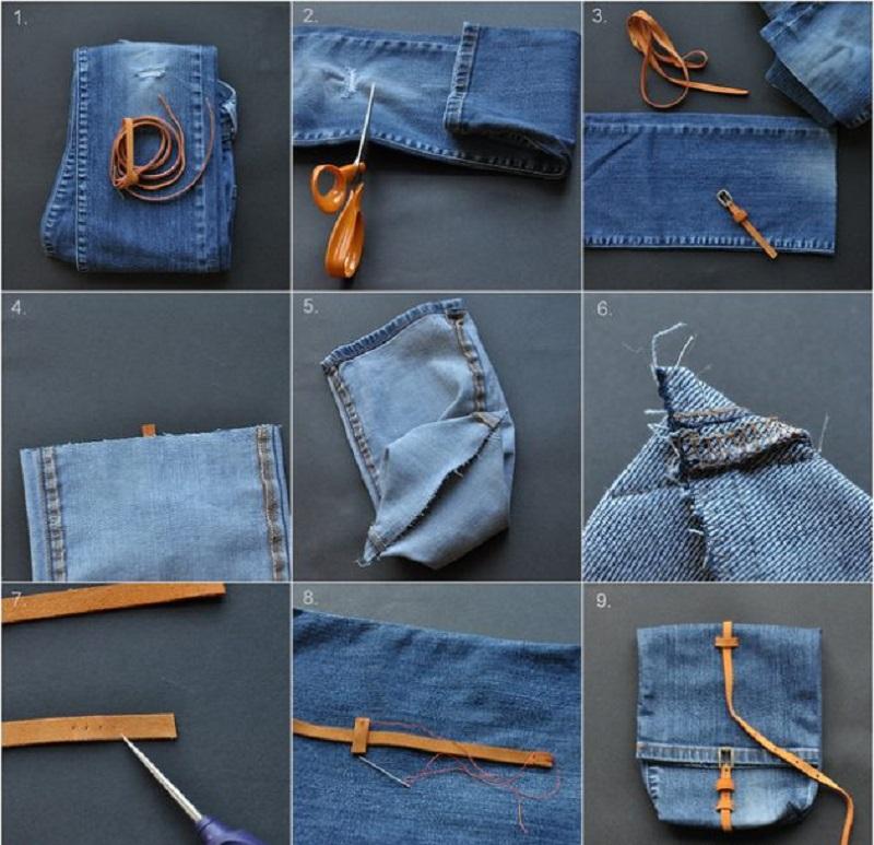 сшить из старых джинсов