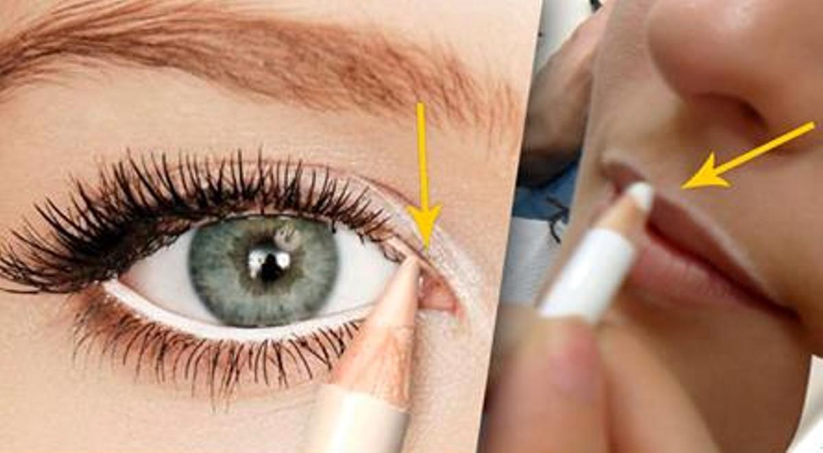 Creion dermatograf alb