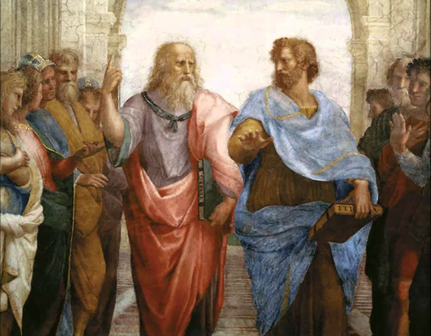 Image result for detail of plato and aristotle from the school of athens